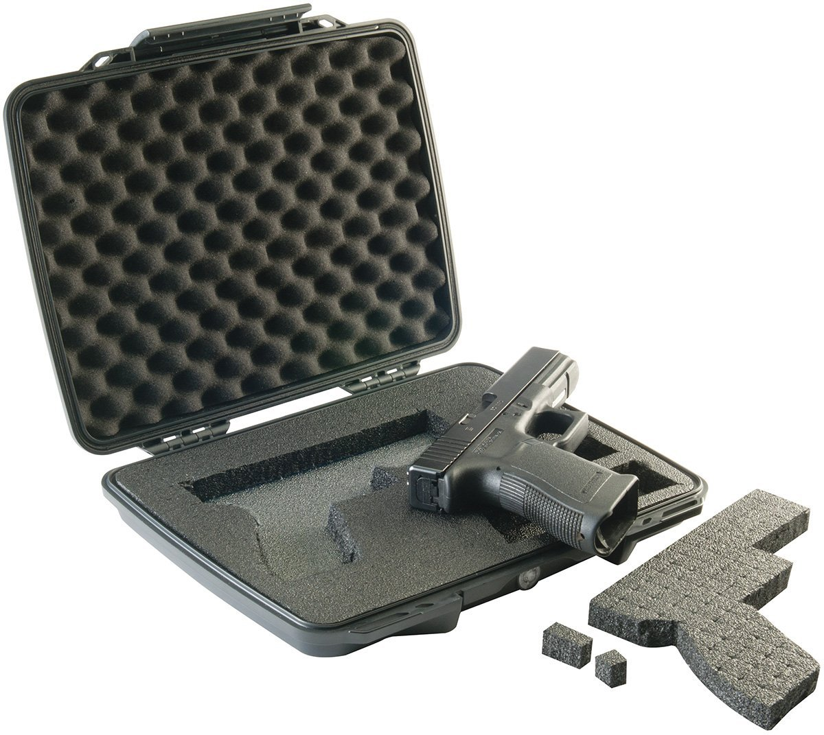 Pelican P1075 Pistol Hard Case Open