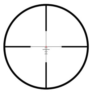 bullet drop reticle